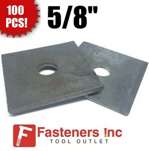 qty 100 5 8 X 3 X 25 approximately Square Bearing Plate Washer Plain