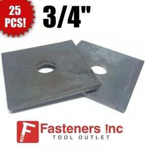 qty 25 3 4 X 3 X 250 approximately Square Bearing Plate Washer Plain