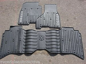 Dodge Ram Crew Cab Gray Slush Style Floor Mats New Oem Mopar