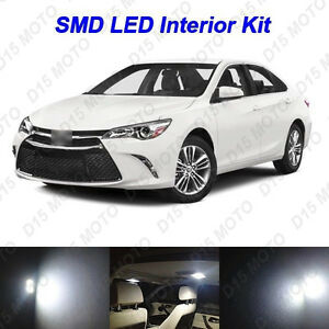 12x Ultra White Led Lights Interior Package Kit For 2012 2016 2017 Toyota Camry