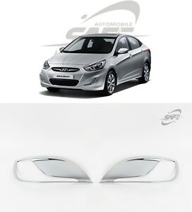 Safe Chrome Fog Lamp Molding 2pcs For Hyundai Accent Solaris 4d 5d 2011 2015