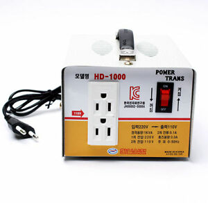 Home Converter Step Down Voltage Transformer From 220v To 110v 1000w Korea Min