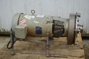 Fristam Fprs3551 250 Centrifugal Pump Stainless Tri clamp 10hp Motor Fprs3551
