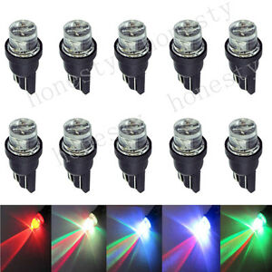 10x T10 W5w 194 168 501 Led Multi Color Red Green Blue Flash Car Light Bulbs 12v