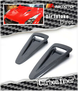 Carbon Fiber Hood Vent Insert Air Intake Ducts For Nissan Gt R Gtr R35 Cba Dba