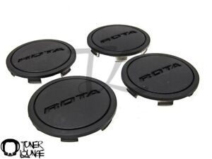 Rota Wheels Center Caps Flat Black Z Cap 4pcs Replacement G Force Torque Grid