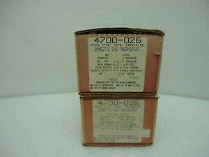 Robertshaw 4700 026 Uafd Domestic Gas Oven Thermostat Uni line Nos