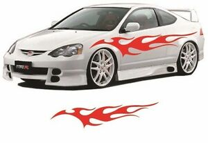 Flame Auto Graphic Decal Large 12 X 48 Flaming Body Car Truck Vinyl Flames V100
