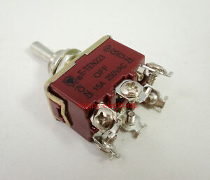 20 Pcs Heavy Duty Momentary Toggle Switch Dpdt on off on Centre Off 15a 250v