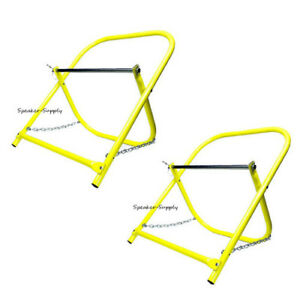 2 Pack Cable Caddy Catv Wire Installer Spool Reel Holder Folding Yellow Sky6005