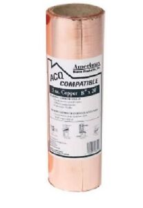 4 Rolls Amerimax 850678 8 X 20 Ft 3 Oz Laminated Copper Roof Flashing