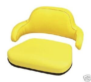 2 Piece Yellow Seat Cushion Set John Deere 310 310a 310b 401 Backhoe Loader lc