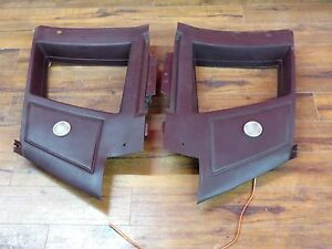 Chevy Monte Carlo Ss Upper Interior Quarter Panel Trim Set 1981 1987 Burgundy