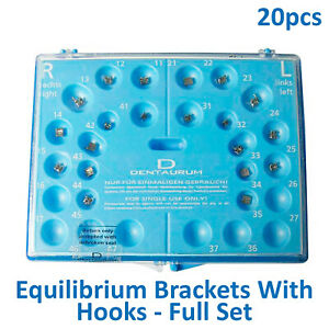 Dental Dentaurum Equilibrium Orthodontic Brackets Roth Full Set 20pcs