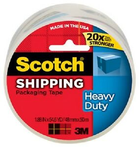 6 Rolls 3m Scotch 3850 1 88 X 54 6 Yd Clear Packing Packaging Shipping Tape