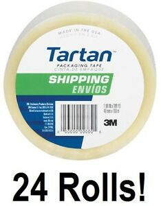 24 Ea 3m Tartan 3710 dc 1 88 X 54 6 Yd Clear Packing Packaging Shipping Tape