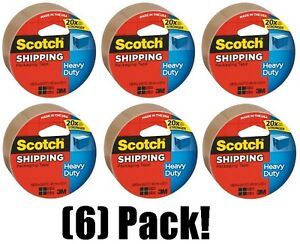 6 Rolls 3m Scotch 3850t 1 88 X 54 6 Yards Tan Shipping Packing Packaging Tape
