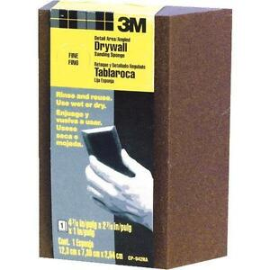 24 Ea 3m Cp042 Fine Angled Re usable Drywall Sanding Sponges