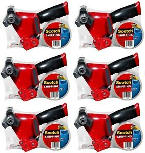 6 3m Scotch 3850 st Super Strength Packaging Tape Dispenser Guns
