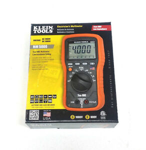 Klein Tools Mm5000 Electrician s Multimeter True Rms Trms made In The Usa