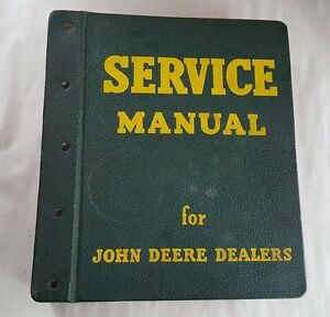 1961 John Deere 3000 Series Wheel Tractor Service Manual With Vintage Binder