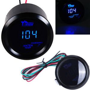 2 52mm Hotsystem Digital Led Fahrenheit Water Temperature Gauge With Holder