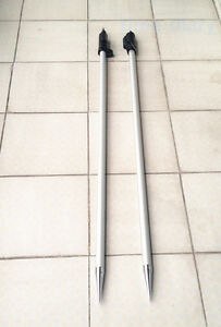 New 2pcs 2 15m 7 Ft Prism Pole For Total Stations Surveying 5 8 x11 Thread