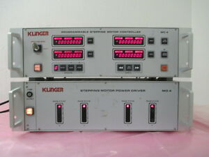 Klinger Md4 Stepping Motor Power Driver And Mc4 Programmable Controller 413353