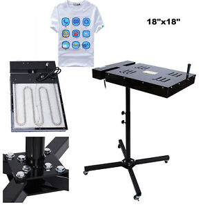 Adjustable Height 18 X18 Flash Dryer Silkscreen T shirt Screen Printing Curing