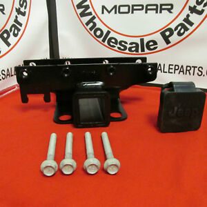 Jeep Wrangler 2 Trailer Hitch Receiver Kit New Oem Mopar