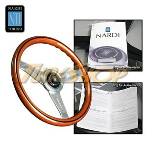 Italy Nardi Classic 330mm Steering Wheel Mahogany Wood With Polished Spoke