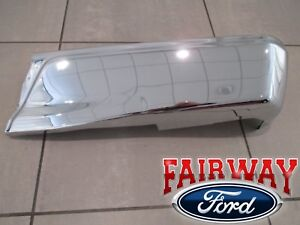15 Thru 19 Ford F 150 Oem Genuine Ford Rear Chrome Step Bumper W o Prox Rh Pass