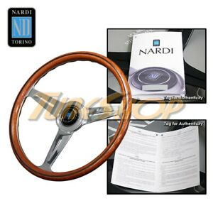 Italy Nardi Classic 360mm Steering Wheel Mahogany Wood With Polished Spoke