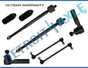 99 01 Honda Odyssey Front Inner Outer Tierod Sway Bar End Link Kit 8pc