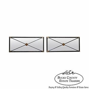 Quality Pair Of Regency Directoire X Crossing Arrows Wall Mirrors