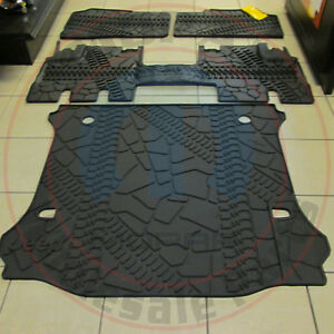 Jeep Wrangler 2007 2013 Front Rear Slush Floor Mats Rear Cargo Tray Oem Mopar