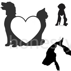 Dog And Cat Pet Silhouette Sticker Vinyl Decal Car Window Wall Bumper Decor