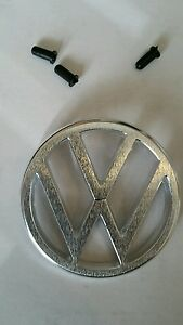 Emblem Front Hood Vw 3 Prong Fits Volkswagen Type3 1970 73 Thing 1973 74 W Clips