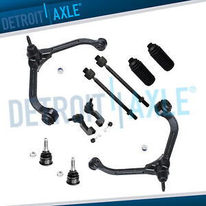 For 2002 2004 Jeep Liberty Front Upper Control Arm Lower Ball Joint Tierod Kit