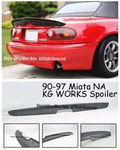 Kg Works Style Rear Wing Trunk Spoiler For Mazda Miata 90 97 Na Mx5 Kit Mk1
