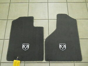 Dodge Ram Premium Slate Gray Carpeted Floor Mats New Oem Mopar