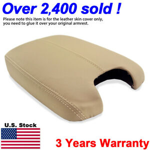 Leather Armrest Center Console Lid Cover For Honda Accord 2008 2012 Beige Tan