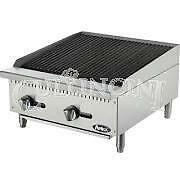 Atosa Heavy Duty Radiant Charbroiler 24 In 2 Burners Gas Atrc 24 ng