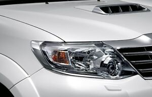 Pair Genuine Toyota Fortuner 2012 2013 Chrome Front Head Light Lamp Cover