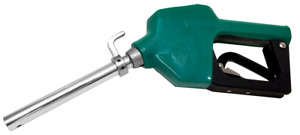 Wolflube Green Automatic Nozzle For Fuels With Hook Spout 0 83in 11gpm