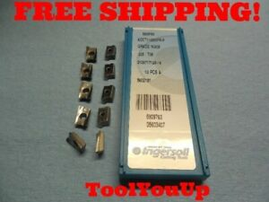 10pcs New Ingersoll Aokt 110308 Fr P Grade In30m Carbide Face Mill Inserts Tools