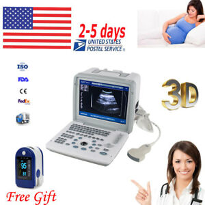 Portable Digital Ultrasound Scanner Machine 3 5mhz Convex Probe 3d Rus 9000b