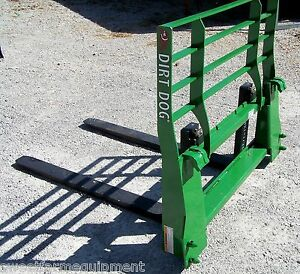 New Dirt Dog Mfg Pallet Forks For Jd Loaders Quick Attach Can Ship Cheap