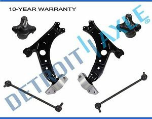 New 6pc Complete Front Control Arm Suspension Kit For Audi A3 2006 2009