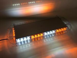 New 40 Led Amber Clear White Emergency Plow Tow Truck 22 Strobe Light Bar Roof